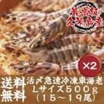 Shrimp - 活〆急速冷凍車海老Lサイズ 500g15〜19尾入 2箱セット