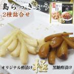 島らっきょう 極 白黒詰合せ 酢漬け30g+黒糖酢漬け30g セット 沖縄産 お土産 食品