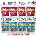 ちょこっぴー プレーン30g×4個・塩味30g×4個 チョコ黒糖×ピーナッツ×塩 豆菓子 落花生 メール便発送 送料無料