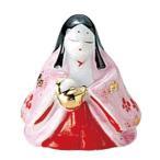 錦絵おひな畑(白磁赤絵仕上) 三人官女 瓶子 [高さ3.7cm] 雛祭り 桃の節句