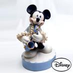 ディズニー  レースドール ミッキーマウス オルゴール サックス(ブルー) [H17cm]