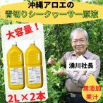 業務用 沖縄県産 シークヮーサー100% 原液 2L 2本セット今なら1本付いてくる ノビレチン 健康  青切りシークワーサー