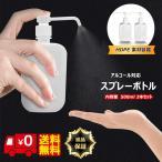 スプレーボトル アルコール対応 500ml 2本セット ボトル ポンプ 消毒 ディスペンサー
