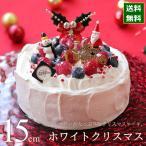 クリスマスケーキ 2017 予約 人気 ホワイトクリスマス 15cm カトルフィユ 広島