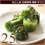 ねこしまの広島菜漬(浅漬) 2.5kg 猫島商店 漬物 ギフト 御歳暮 お歳暮