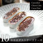 カカオダストチーズケーキ 10個(チーズケーキ×10個、トッピング5個)スイーツ ギフト カカオニブ カラメルソース カマンベールチーズケーキ お歳暮