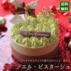 クリスマスケーキ 予約 2021 ノエル・ピスターシュ 12cm 4号 サイズ (目安:2人、3人、4人分)ピスタチオ ケーキ チョコレート ムース いちご かわいい