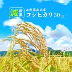 減農薬 コシヒカリ 30kg お米 (玄米・白米・無洗米)精米方法選べます 精米後約27kg