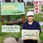 メダカが泳ぐキレイな田んぼで育ったお米 30kg (5kg×6袋) めだか米 (玄米・白米・無洗米)精米方法選べます 山形県産 はえぬき