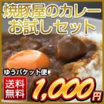 焼豚屋のカレーお試しセット(オコメール1パック+カレー1パック)【メール便】 平成28年(2016年) 送料無料