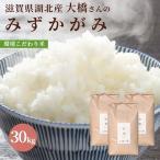 平成29年度 滋賀県湖北産 大橋さんのみずかがみ 30kg【環境こだわり米(特別栽培米)】【送料無料】【白米・玄米】