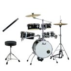 パール ドラムセット Pearl RT-645N/C リズムトラベラー ジェットブラック Version 3s YOSHIKI/X JAPAN シグネチャー・スティック キッズ スローン選択可