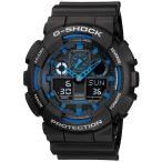 ショッピングShock 海外CASIO 海外カシオ 腕時計 GA-100-1A2 メンズ G-SHOCK ジーショック COMBINATION MODELS コンビネーションブラック クオーツ(国内品番,GA-100-1A2JF)