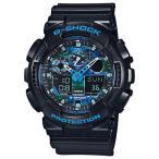 ショッピングShock 海外CASIO 海外カシオ 腕時計 GA-100CB-1A メンズ G-SHOCK ジーショック ブラック ブルー カモフラージュ