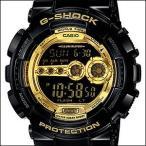 ショッピングShock 海外CASIO 海外カシオ 腕時計 GD-100GB-1ER メンズ G-SHOCK Gショック Black × Gold Series ブラック×ゴールドシリーズ(国内品番はGD-100GB-1JF)