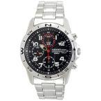 【正規品】海外SEIKO 海外セイコー 腕時計 SND375P1 メンズ クロノグラフ シルバー/ブラック