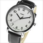 TIMEX タイメックス 腕時計 T2N338 メンズ MODERN EASY READER モダン イージーリーダー ホワイトダイアル ブラックレザー