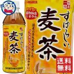 送料無料 サンガリア すばらしい麦茶 500ml×48本 計2ケース ※北海道沖縄その他一部地域は送料無料対象外