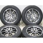 新品タイヤセット 195/65R15 冬タイヤ ダンロップ DSX-2  2015年製 社外アルミホイール 15インチ 6J+53 5H-114.3 スタッドレス
