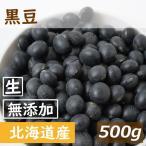 送料無料 北海道産 黒豆 生 500g ゆうパケット 無添加 無塩 無植物油 ポイント消化 グルメ みのや