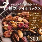 ミックスナッツ 送料無料 ダークチョコ入りナッツ&フルーツ 300g 素焼き ミックスナッツとドライフルーツ トレイルミックス ゆうパケット