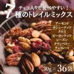 ミックスナッツ ダークチョコ入りナッツ&フルーツ 30gx36袋 送料無料 小分け個包装 アーモンドクルミ レーズン等 みのや チョコレート