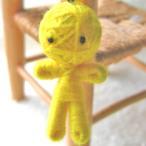 (金運のお守り)イエロー ハッピードール ブドゥー人形
