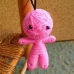 ショッピング恋愛 (恋愛・結婚のお守り)ピンク ハッピードール ブドゥー人形