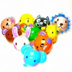 動物パンチボール[ご注文単位は必ず25個単位でお願いします。]景品 玩具 おもちゃ オモチャ 縁日 お祭り 子供会 イベント 業務用 空気 ビニール