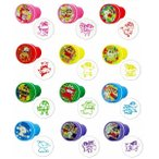 クレヨンしんちゃん丸型スタンプ 60個スタンプ 印鑑 ハンコ 景品 子供 子供会 縁日 お祭り 夏祭り