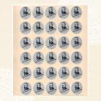 作曲家レッスンシール「チャイコフスキー」(30枚×10シートセット)【出席シール/ピアノ教室/音楽教室】