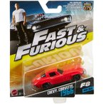 Mattel fast and furious 8 F8 red chevy corvette 1966 1.55