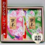 おもてなしギフト 煎茶 静岡県袋井のにしたながお届けする ミル芽のはしりとマイルドな詩のセット 平袋100g二袋入り