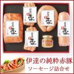 ◆商品名 伊達の純粋赤豚 ソーセージ詰合せ A-40A  ◆商品説明 赤豚の旨みをとじこめたソーセージのセットです。 焼き目を付けて...