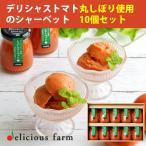 デリシャストマト丸しぼり使用 トマトシャーベット100g×10本セット (常温保存可) 玉光デリシャス(お歳暮のし対応可)