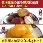 国産 熊本県産 栗 渋皮煮 甘露煮 (自然栗・和栗各550g)詰め合わせ