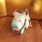 お正月飾り かわいい 和紙 置物 干支飾り 子うし インテリア ミニチュア めでたや