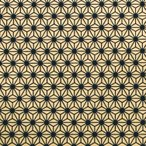 色鳥の子紙 シルク印刷 麻の葉 黒×金(330-イ)