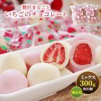 バレンタイン 2021 新発売 贅沢まるごといちごのホワイトチョコ どっさり300g(150g×2袋 / 約32個)個包装 送料無料 贈り物やギフト 義理 子供 手作り風