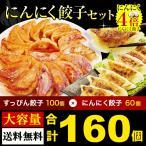 にんにく激マシ餃子60個+すっぴん餃子100個 食べ比べセット  大阪 ギフト 取り寄せ ぎょうざ