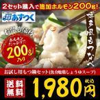 あす着く 博多もつ鍋2-3人前セット ホルモン200g 麺1玉+薬味+スープ 特産品 名物商品 ギフト 大阪 取り寄せ