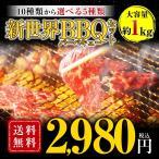 10種から選べる新世界BBQセット バーベキュー 送料無料 冷凍食品 特産品 お試 し 訳あり ハラミ 牛肉 大阪 ギフト 焼肉 焼き肉