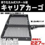 【再入荷!】【即納】ヒッチキャリアカーゴ 折り畳み可 スチール製