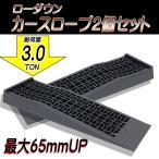 【SALE!】【即納】ブラックタイヤスロープ/3t/大型車/ローダウン車対応/ジャッキサポート/カースロープ/2個セット