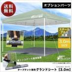 テント タープテント ワンタッチテント サンシェード 3×3m用グランドシート 送料無料