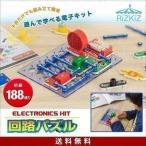 電子ブロック 回路パズル 電子回路 おもちゃ 初級 188通り 知育玩具 ブロック パズル 電子玩具 電気 学習 理科 実験 クリスマス プレゼント RiZKiZ 送料無料