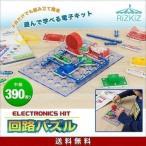 電子ブロック 回路パズル 電子回路 おもちゃ 中級 390通り 知育玩具 ブロック パズル 電子玩具 電気 学習 理科 実験 クリスマス プレゼント RiZKiZ 送料無料