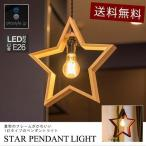ペンダントライト 照明 1灯 星 スター LED 口金 E26 天井照明 北欧 ダクトレール リビング 吊り下げ レールライト 電球 セット カフェ 食卓 リビング 送料無料