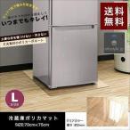 冷蔵庫マット クリアマット 冷蔵庫用 キズ防止 マット Lサイズ 70x75cm 冷蔵庫 下敷き 〜600L用 床 凹み 傷防止 ポリカーボネート 透明 床暖房対応 送料無料