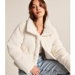 アバクロ レディース ダウンジャケット Hooded Puffer Jacket ネイビー 大きいサイズ XL